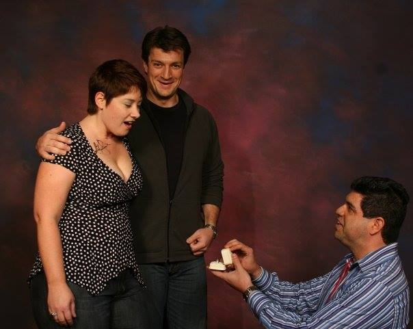 The shiniest proposal! With help from Captain Malcolm Reynolds himself!
