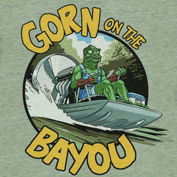 Gorn on the Bayou at graphiclabtees.com