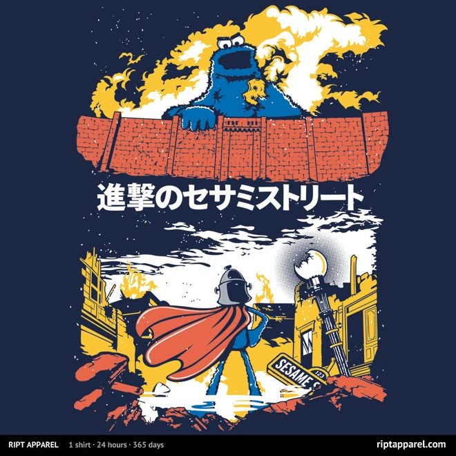 Attack on Sesame Street at riptapparel.com