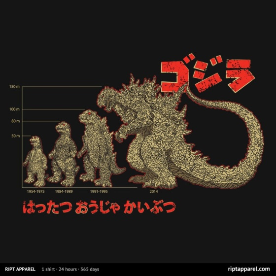 Evolution of King of Monsters at riptapparel.com