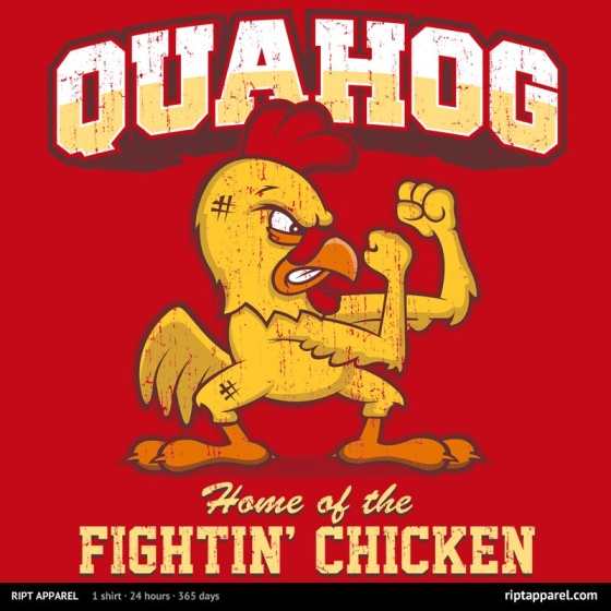 Quahog Fightin' Chicken at riptapparel.com