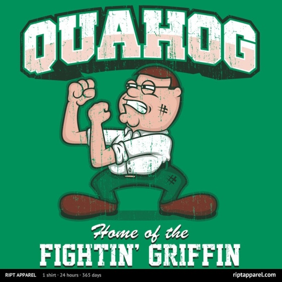Quahog Fightin' Griffin' at riptapparel.com