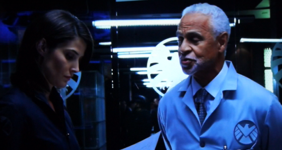 Ron Glass and Cobie Smulders