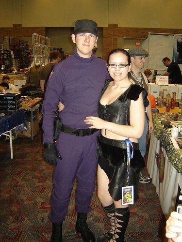 Ryan wearing his screen used Alliance uniform, with his wife Beth!