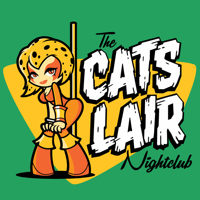The Cats Lair Nightclub at shirtpunch.com as the TV shirt of the day