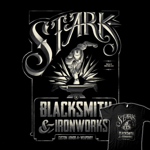Stark Ironworks at teefury.com