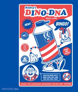 Bingo! Dino-DNA! at theyetee.com