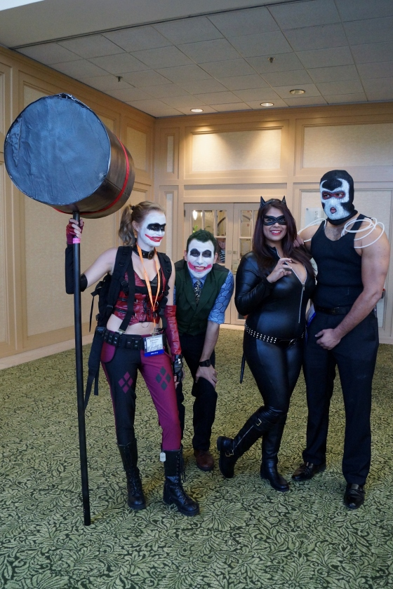 Joker and Harley Quinn with Catwoman and Bane