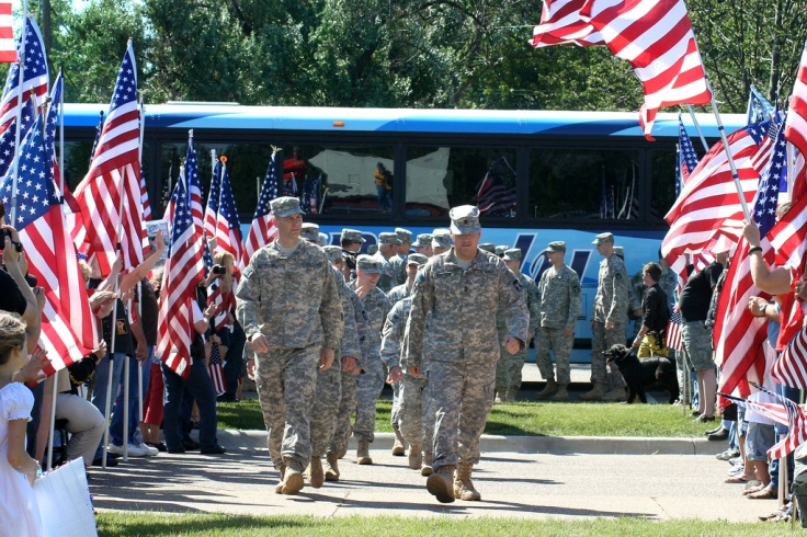 More than 60 Soldiers, with the 204th Area Support Medical Company, returned from a 9-month deployment to Basrah, Iraq in support of Operation Iraqi Freedom on July 1, 2010 at the armory in Cottage Grove, Minn. (Photo Credit: Sgt. Dajon N. Schafer, Minnes