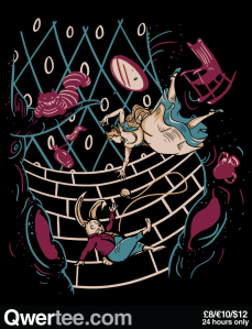 Follow the White Rabbit at qwertee.com
