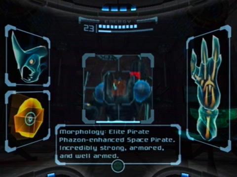 Metroid Prime's scan visor