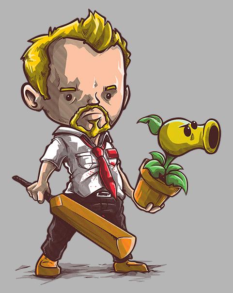 Shaun vs Zombies at shirtpunch.com