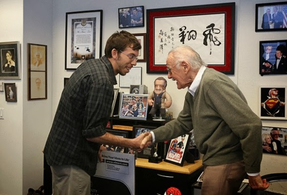 Andrew meets Stan Lee