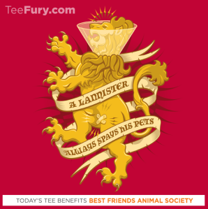 A Lannister Always... at teefury.com