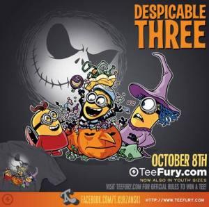 Despicable Three at teefury.com