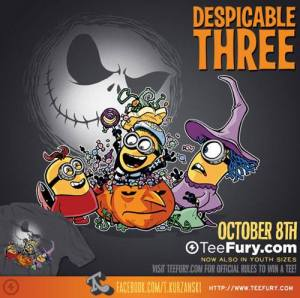 Despicable Three at teefury.com