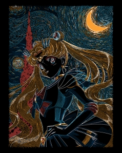 Usagi and the Starry Night at shirtpunch.com
