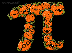 Pumpkin Pi at shirt.woot.com