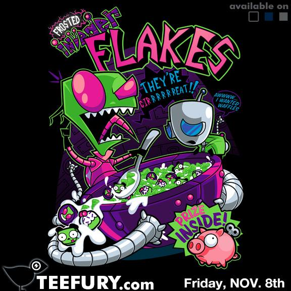 Invader Flakes at teefury.com