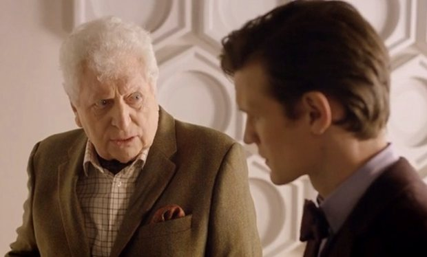 Tom Baker, aka the Fourth Doctor, makes an appearance as the curator of the museum.  Let the speculation begin.