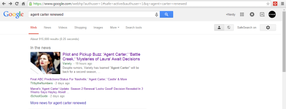 agent carter renewed