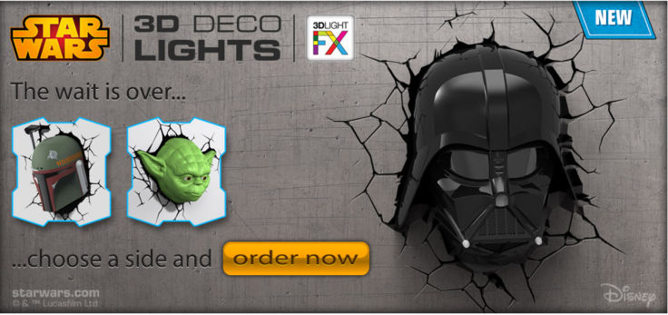 StarWars 3DlightFX Darth Vader Deco Light ORDER NOW