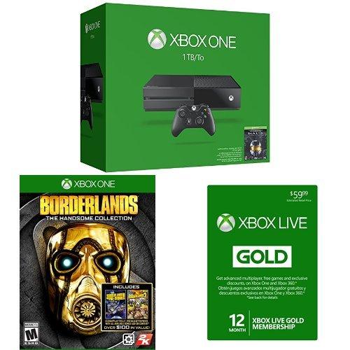 XboxOneHALOMASTERCHIEFcollectionconsoleborderlands12monthsxboxlive