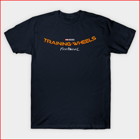 stark industries training-wheels protocol spider-man homecoming t-shirt