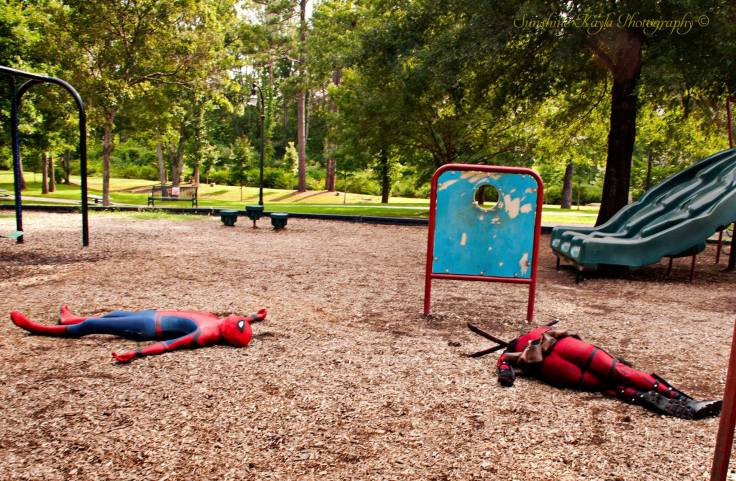 Spider-Man x Deadpool wiped out, exhausted