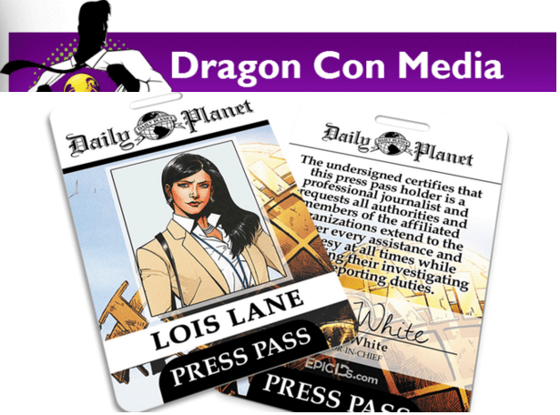 dragon con media daily planet lois lane press pass