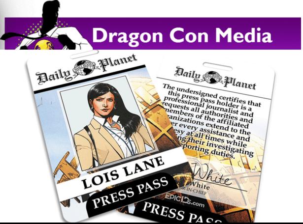 dragon con media daily planet lois lane press pass