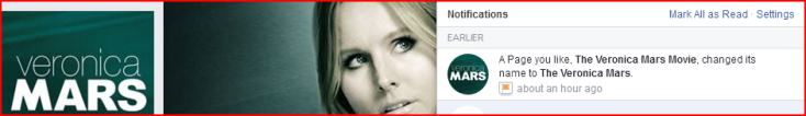 the veronica mars name change facebook